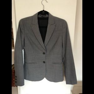 2 piece classic heather gray Theory woman suit